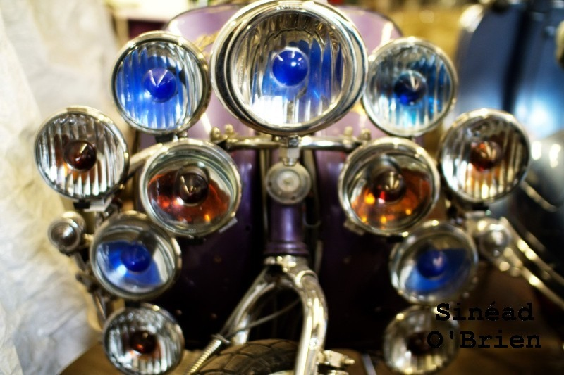 Scooter lamps close-up