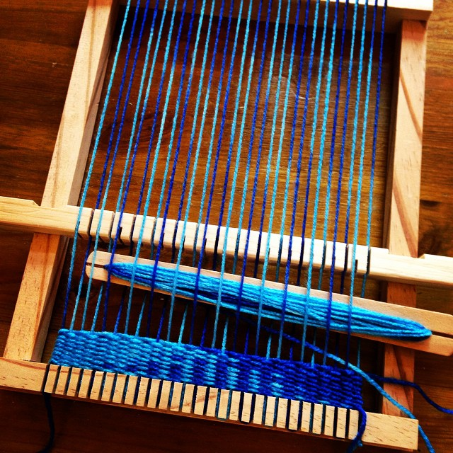 Ran out of craft projects so having a go at weaving for the first time. :-)