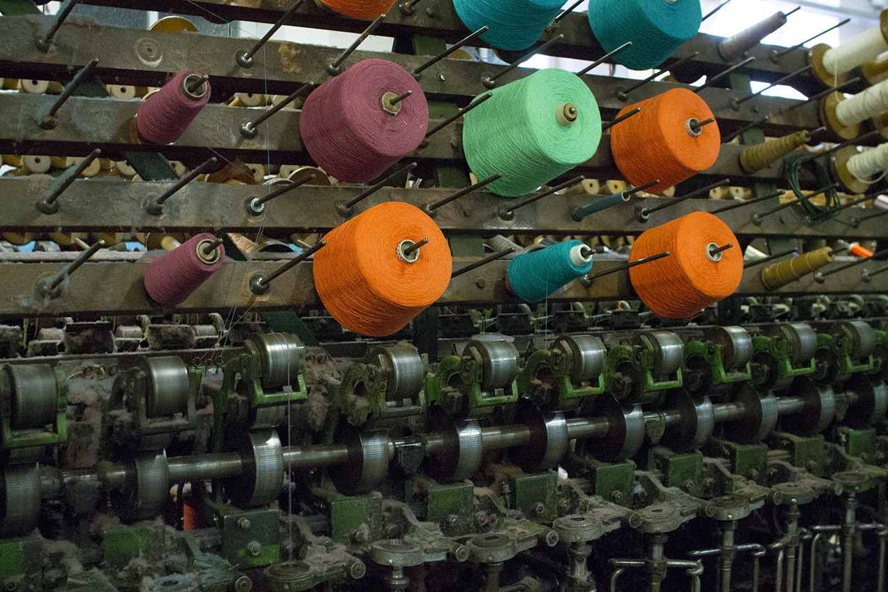 Cotton doubling machine at Masson Mills