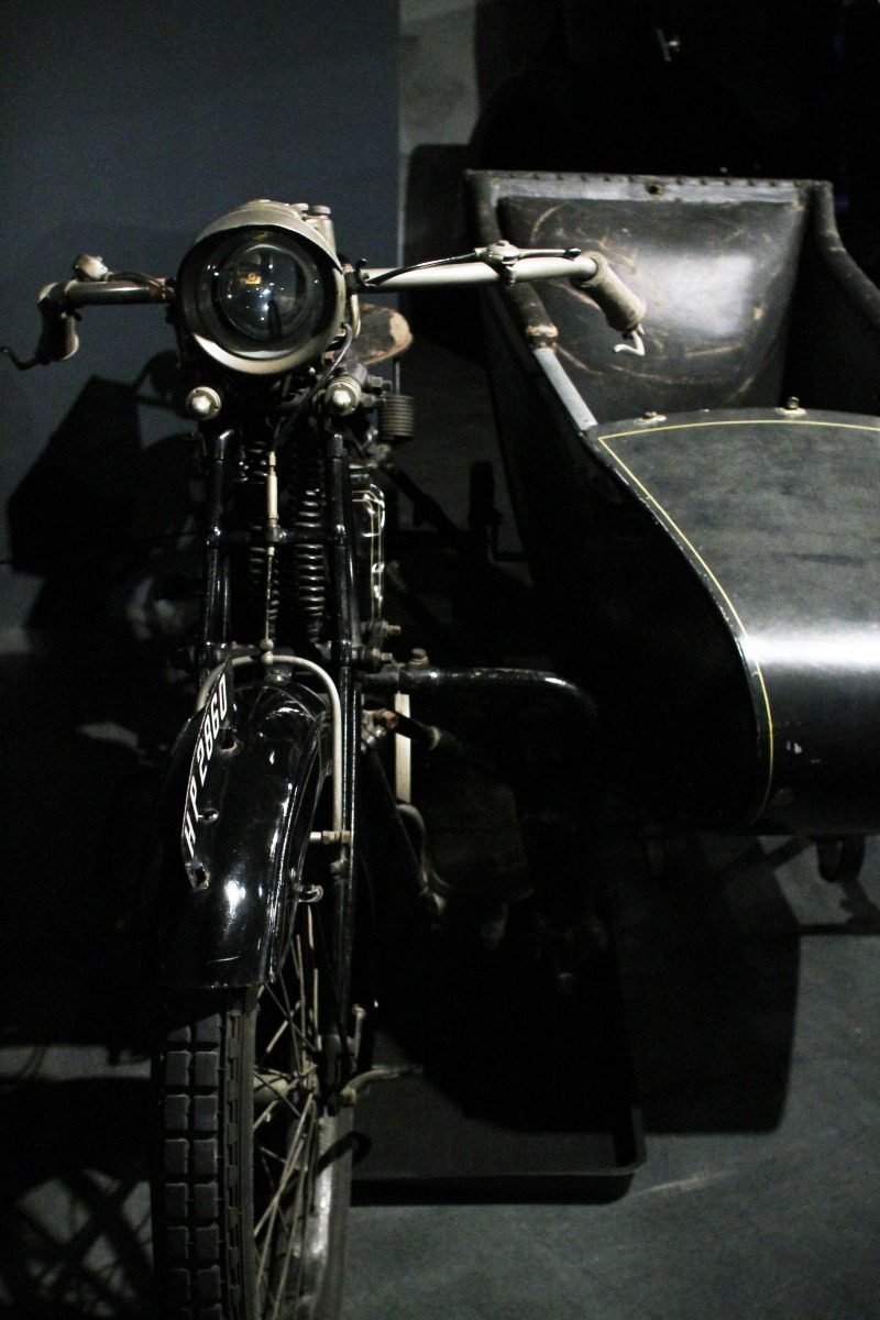 Motorbike and sidecar - Coventry Transport Museum