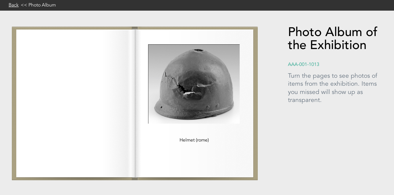 Photo album visualisation