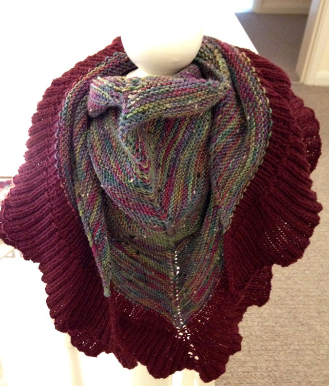 Mara Shawl - Knitted - Finished