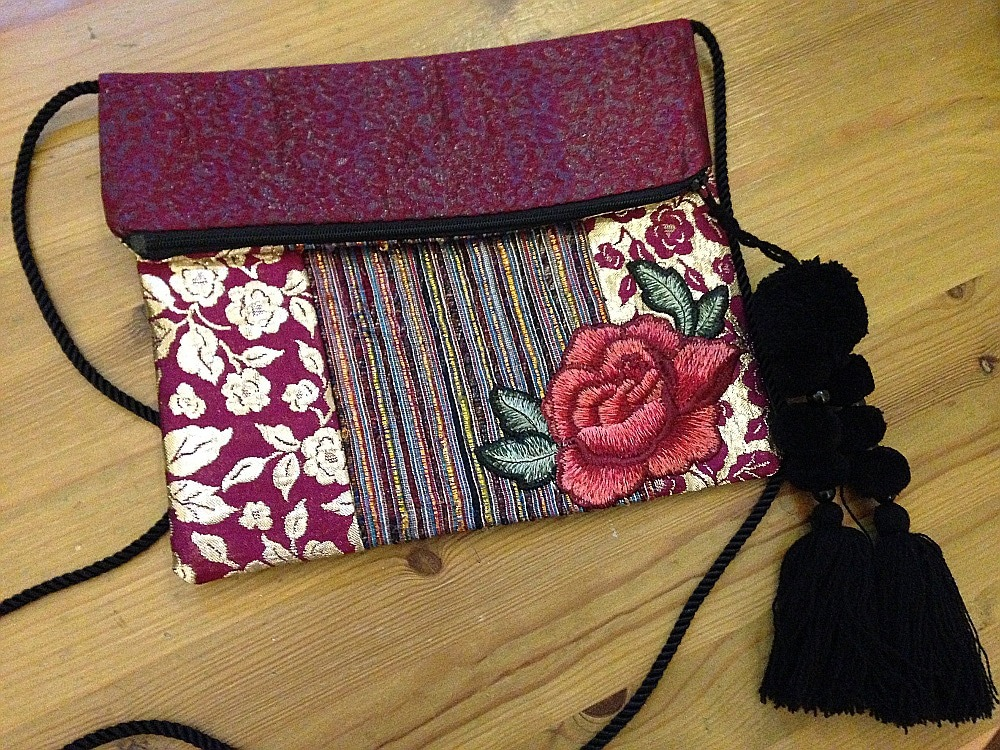Crazy patchwork purse – Sewing